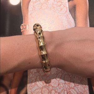 Lilly Pulitzer gold bamboo bangle bracelet
